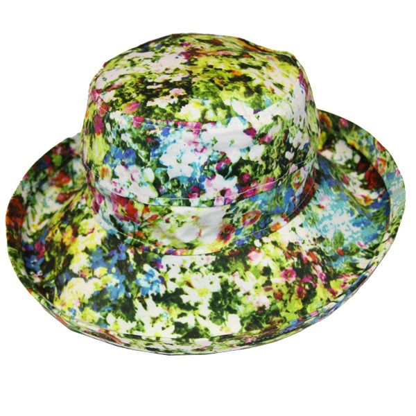 The Noosa Hat - Floral Cotton | Topshow