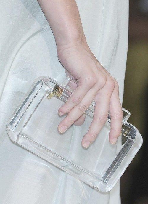 .-.: Handbags, Style, Clear Clutches, Cute Ideas, Fendi Spring, Clutches Bags, Lucite Clutches, Accessories, Clutches Pur