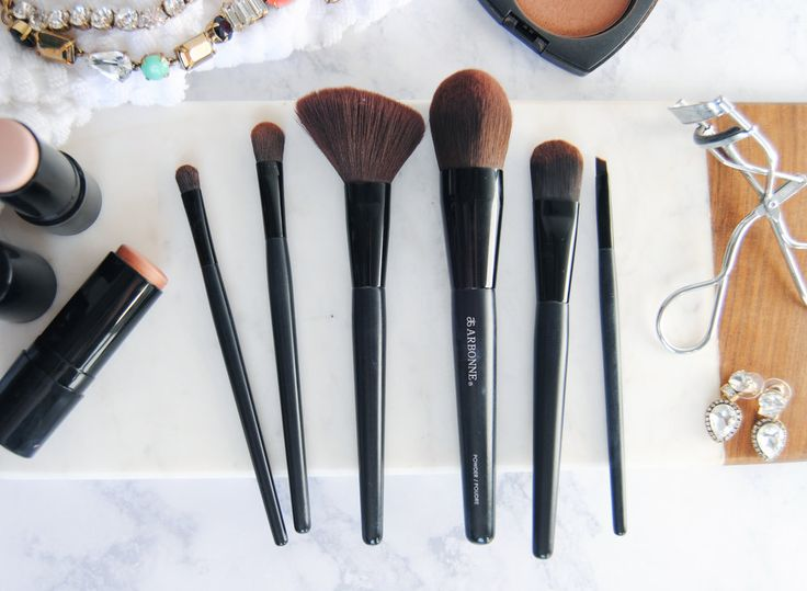 how to clean arbonne brushes