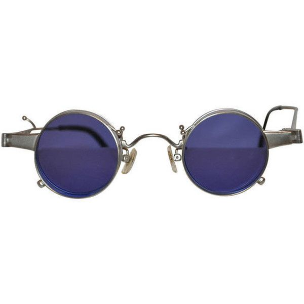 """Pre-owned Kenzo """"Flip Out"""" Double Lens Glasses (5,350 EGP) ❤ liked on Polyvore featuring accessories, eyewear, sunglasses, glasses, tinted glasses, tinted lens glasses, lens glasses, lens sunglasses and flip sunglasses"""