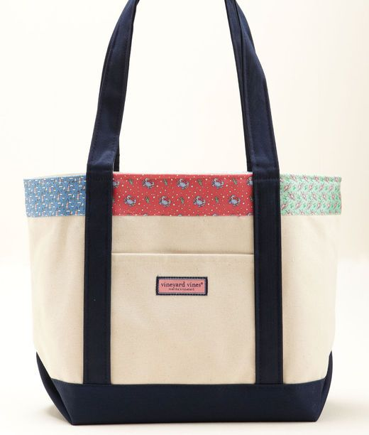 Women's Tote Bags: Patchwork Classic Tote for Women - Vineyard Vines