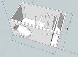 Resultado de imagem para subwoofer box design for 12 inch