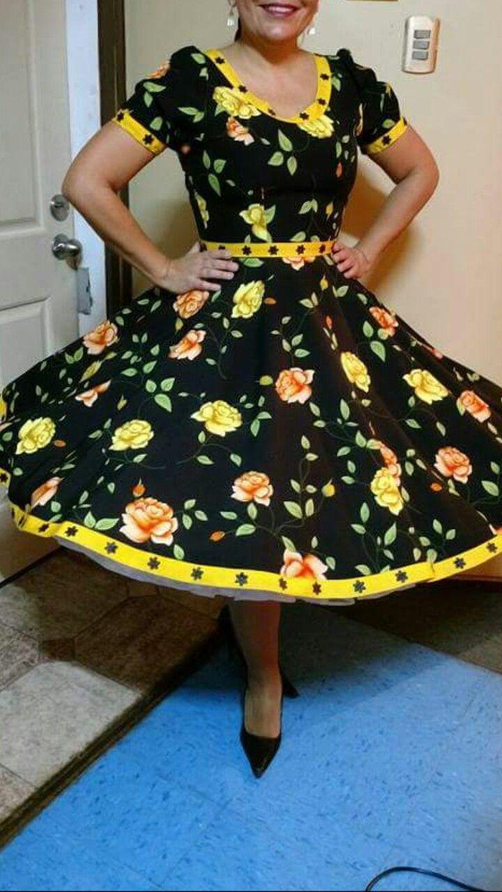 Resultado de imagen para vestidos de huasa chilena 2015