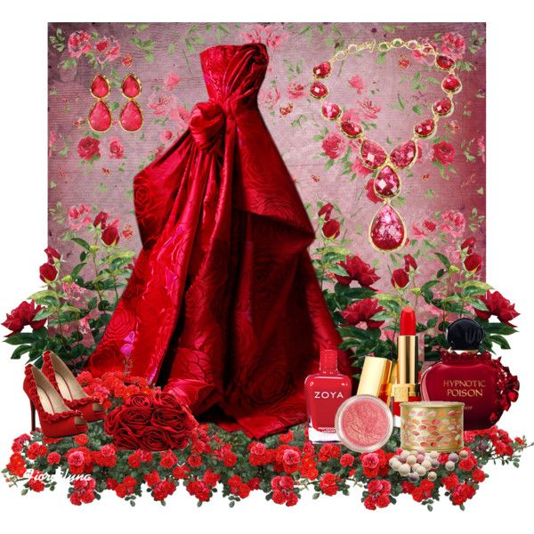 """""""Red Rose"""" by fiordiluna on Polyvore"""