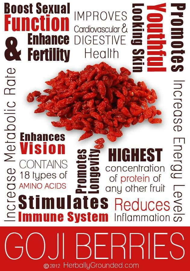 Health Benefits of Goji Berries...high in antioxidants ...