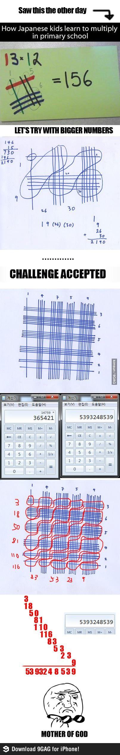 Multiplications à la japonaise.