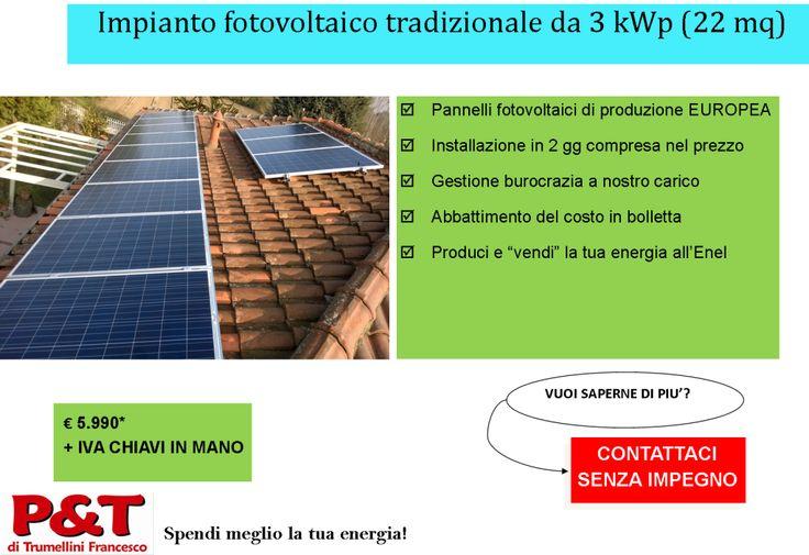 Fotovoltaico: come scegliere il tuo?  Quale scegliere, come scegliere...e quali sono i costi... Qua trovate tutte le info che cercate sul fotovoltaico   #spendimegliolatuaenergia!