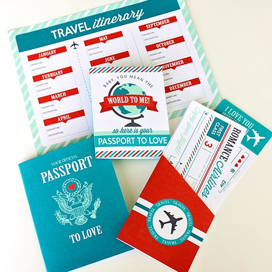 Passport to Love! This could be a fun family activity, too.