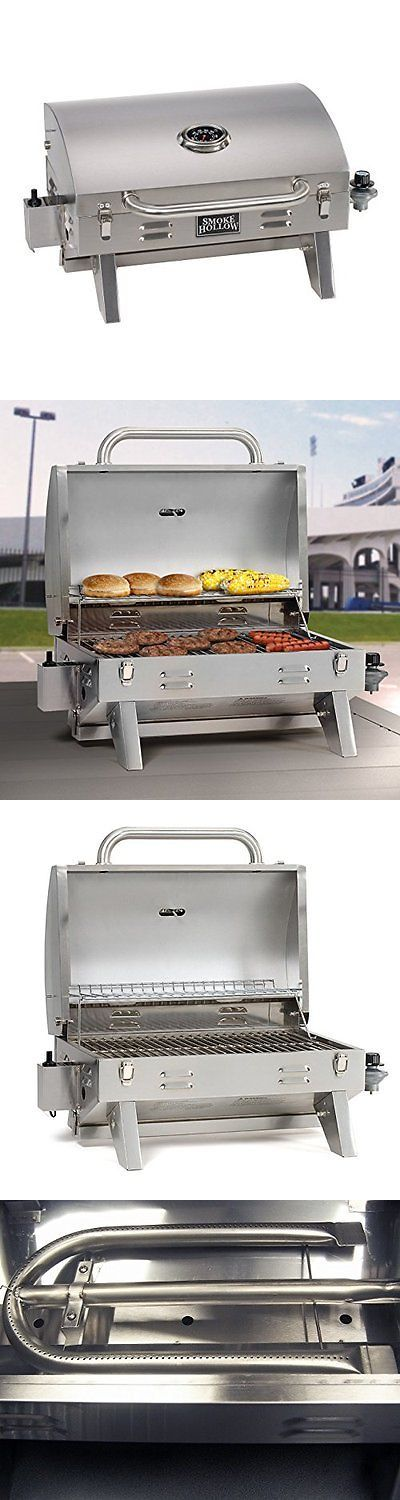 Barbecues Grills and Smokers 151621: Smoke Hollow 205 Stainless Steel, Portable Table Top Propane Gas Grill With Warm -> BUY IT NOW ONLY: $84.03 on eBay!