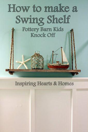 swing shelf, nautical, pottery barn kids swing shelf