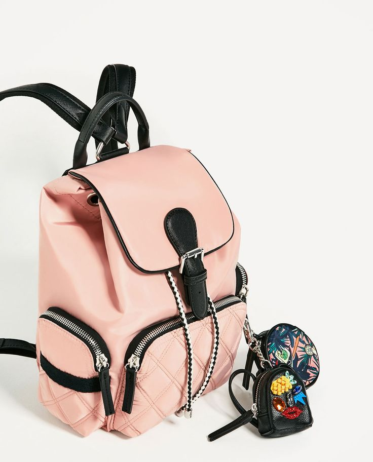 TECHNICAL FABRIC BACKPACK WITH PENDANT-View all-BAGS-WOMAN | ZARA United States