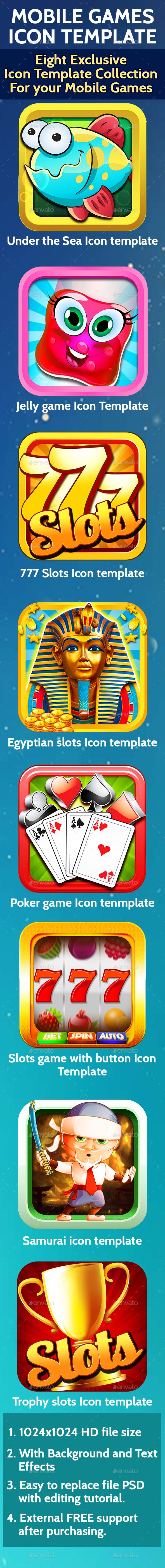 Mobile Game Icon Templates for iOS & Android - #Icons