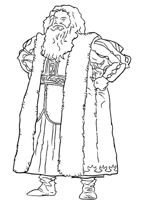 Father Christmas Narnia Chronicles Of Narnia Coloring Pages