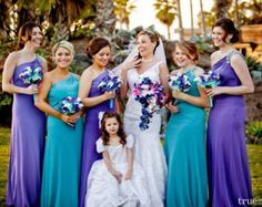 turquoise blue and purple wedding - Google Search