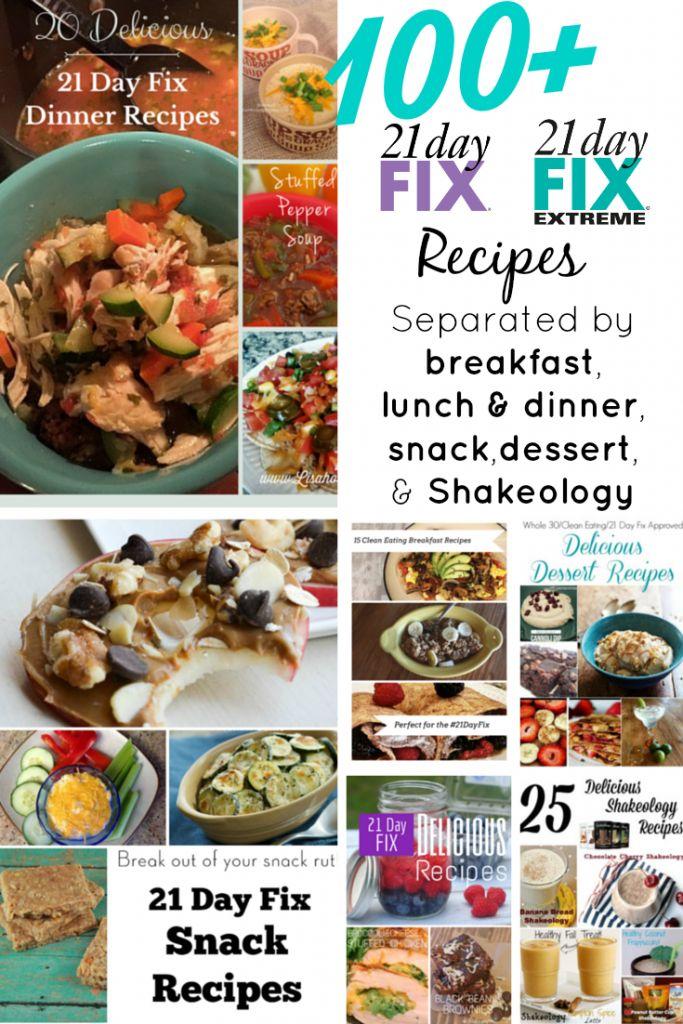100+ 21-Day Fix Recipes