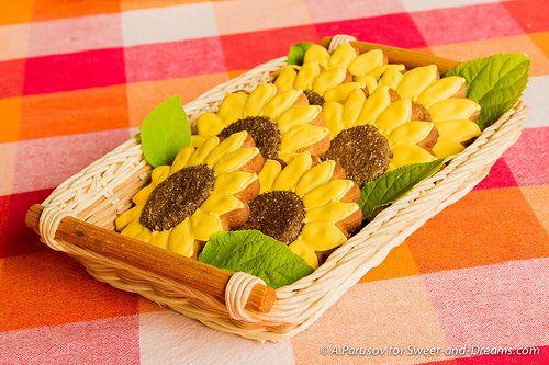 Gingerbread sunflowers