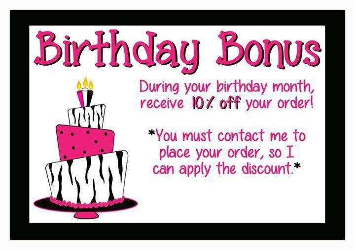 Celebrate your birthday with me! www.facebook.com/sprinklesbyjessicahoxie  www.pinkzebrahome.com/zebradivajess