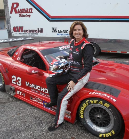 Amy Ruman of Kent became the first woman in the 45 year history of the SCCA Pro Racing Trans-Am Series to win a race by winning the Road Atlanta Trans-Am Series.