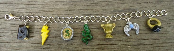 7 Horcruxes Charm Bracelet by geeekalicious.deviantart.com on @deviantART