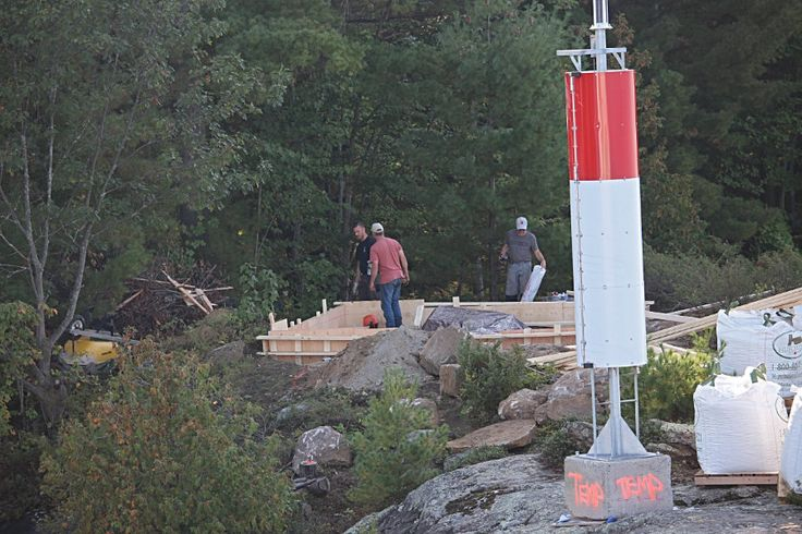 Temporary Light, September 2017.  The original 1905 lighthouse is being rebuilt (it needed it).
