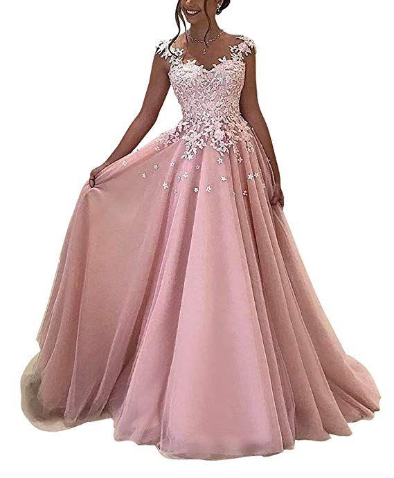 d96eaa81dd8c Yangprom Elegant V-Neck Lace Appliques Floor-Length A-Line Prom Evening  Dress (2, Black)