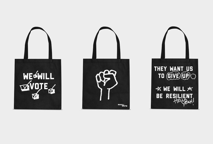 Rock the Vote tote bags by Apartment One