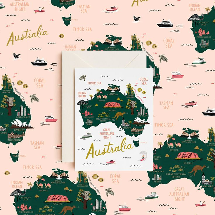 """Find your inner """"G'day"""" and """"Kia ora"""" with the exclusive, bespoke Australian and New Zealand card & wrap designs from Rifle Paper Co. that will be a stand-out under your Christmas tree."""