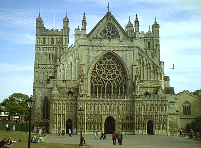 Exeter Cathedral :) just a few minutes' walk from our flat