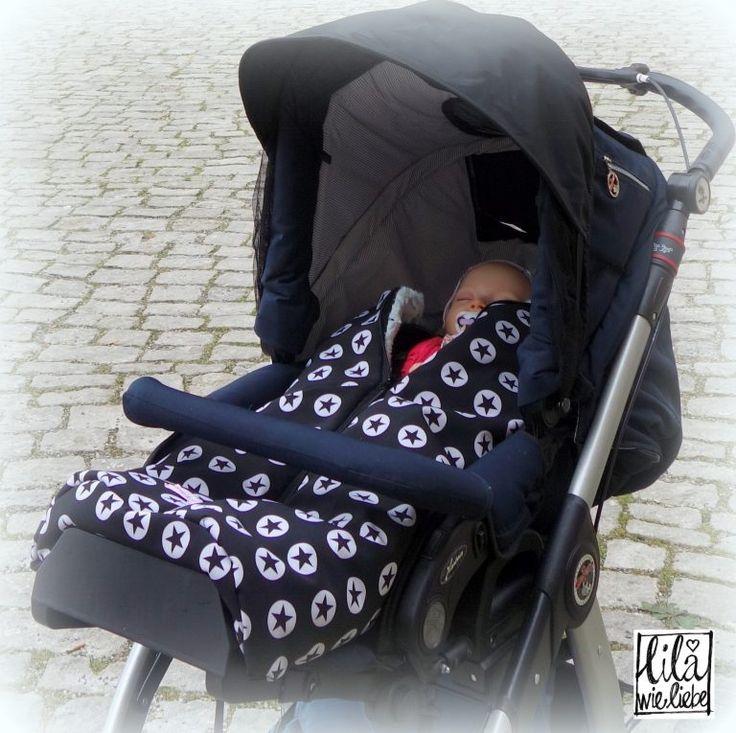 Kostenlose Anleitung und Schnittmuster zum Nähen: praktischer Fußsack für den Buggy, Kinderwagen, Fahrradanhänger - ganz einfach und in verschiedenen Größen