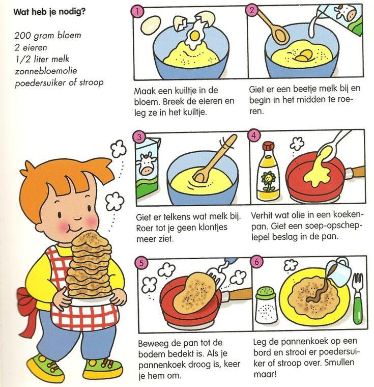 Pannenkoeken maken.