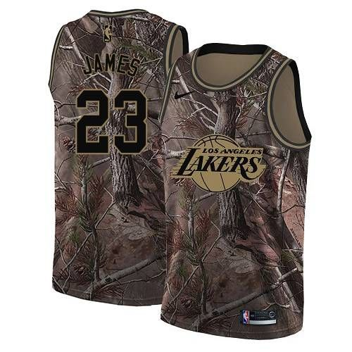 wholesale dealer cbd29 aa72c Nike Los Angeles Lakers #23 LeBron James Camo NBA Swingman ...
