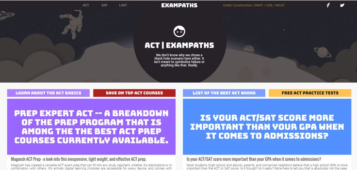 ACT prep course reviews and coupons, practice exams, blogs outlining strategies to get the perfect score, and more. We're here to help you beat the ACT.