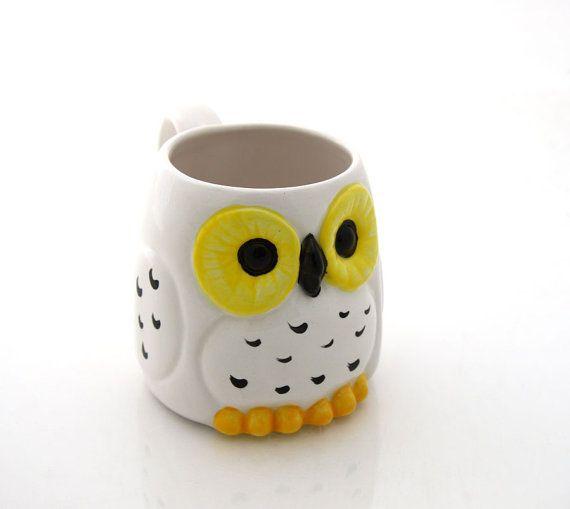Harry Potter Hedwig owl mug by LennyMud on Etsy, $16.00