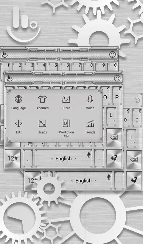 Silver Colored Metal Theme- screenshot