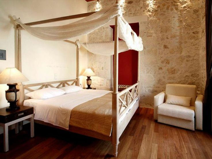 Έπιπλα Ξενοδοχείου Κρεβάτια Ξύλινα με Ουρανό ΜΟ515 - Έπιπλα - GK Mobili