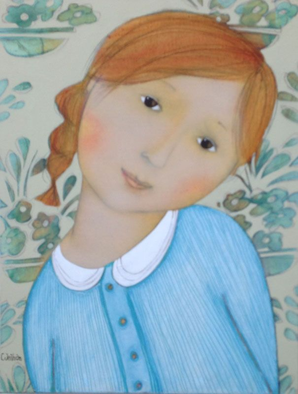 Cecile Veilhan - original art work ... http://homedecor.tropicalhouseplants.net/