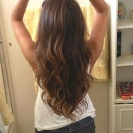 cut long hair v shape | ... up my length… Long layered V-shaped cut. Long layered V-shaped cut