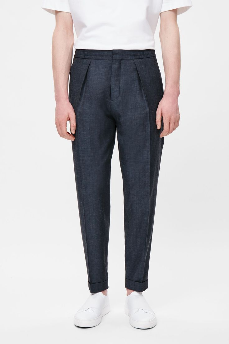 mens turn up trousers - ShopStyle UK