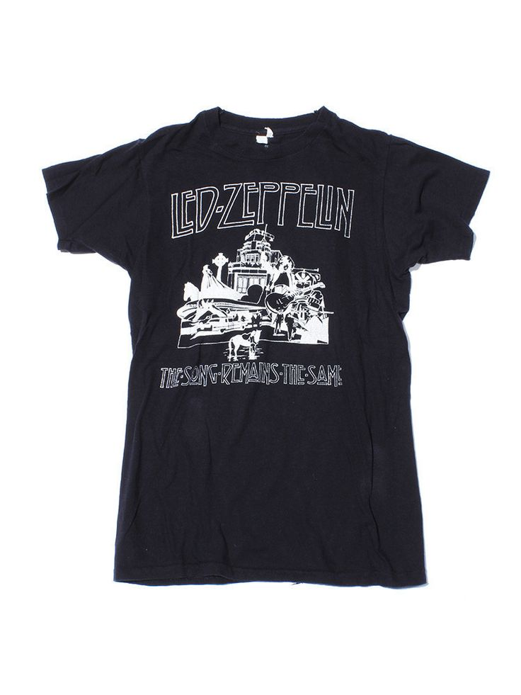 Led Zeppelin Song Remains the Same Vintage T-Shirt 1977