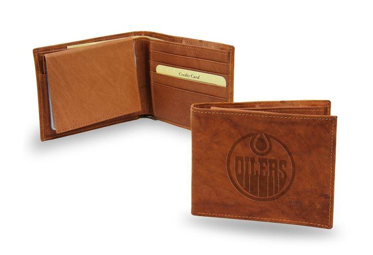 Edmonton Oilers Embossed Leather Billfold/Wallet