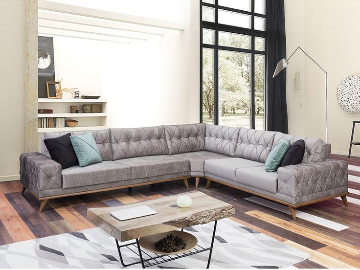 Sönmez Home | Modern Köşe Takımları | Fiesta Köşe Takımı #Modern #Furniture #Mobilya #Köşe #L #Koltuk #Takımı #Sönmez #Home