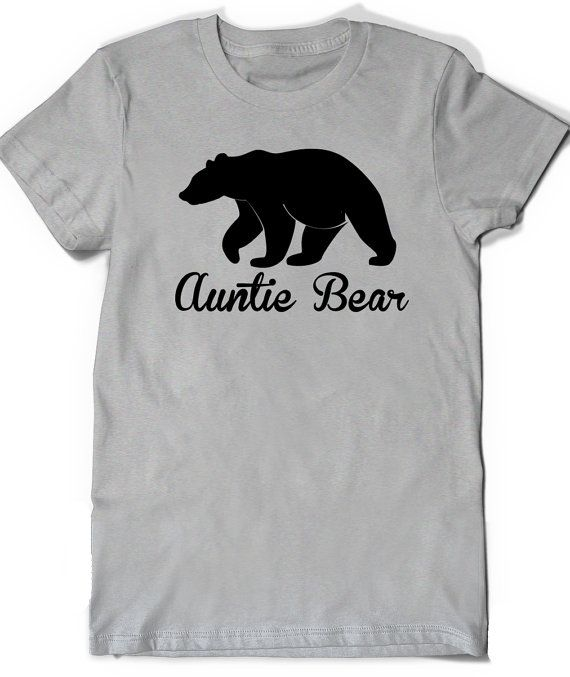Auntie Bear Aunt T-Shirt T Shirt Tee Mother Mothers by BoooTees