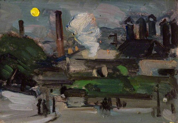 Jeffrey's Brewery, Edinburgh by Samuel John Peploe 1900. ( Scottish Post-Impressionist painter, noted for his still life works and for being one of the group of four painters that became known as the Scottish Colourists. The other colourists were John Duncan Fergusson, Francis Cadell and Leslie Hunter).