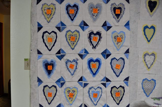 Comfort Quilt......Frayed Edge Hearts