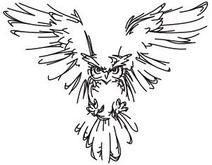 Night Owl | Urban Threads: Unique and Awesome Embroidery Designs back tattoo for Mark