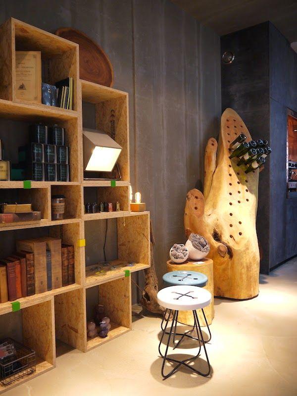 Felice 'Home of brands' |  Sophisticated  OSB shelves