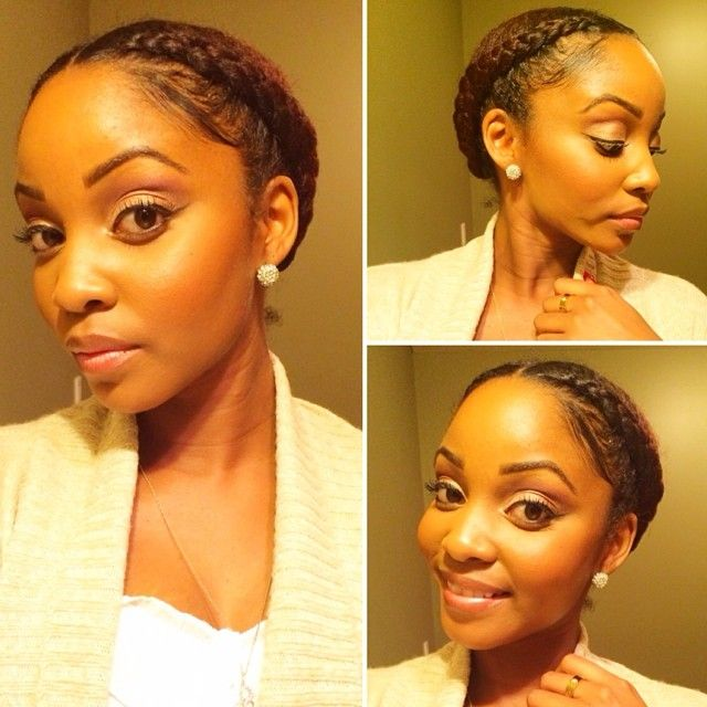 Protective style worn all of last week. I love how easy it is to keep hair moisturized with this look.