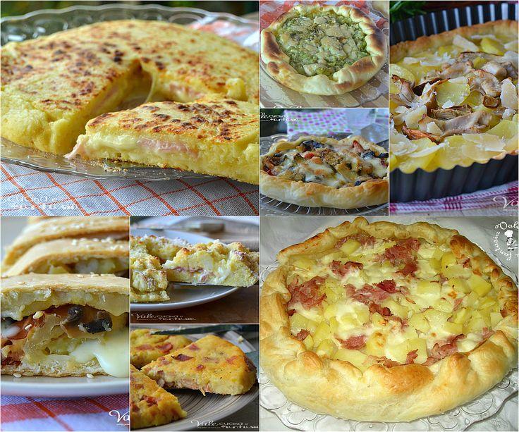 Raccolta di torte salate per Pasquetta, facili, veloci, pratiche ed economiche, torte salate per tutti i gusti con tanti ingredienti diversi e saporiti