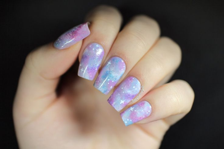 A Canadian Nail Polish Blog Featuring Unique Art Reviews And Swatches Written Galaxy Nails TutorialNeon