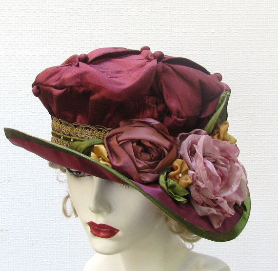 Custom Made Edwardian Victorian Hat Vintage Renaissance by BuyGail